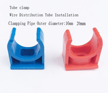 Series#Electrical wire distribution tube clamp,OD 16/ 20MM Cable protecting tube,color tube clip clamping PVC pipe U Shape clamp