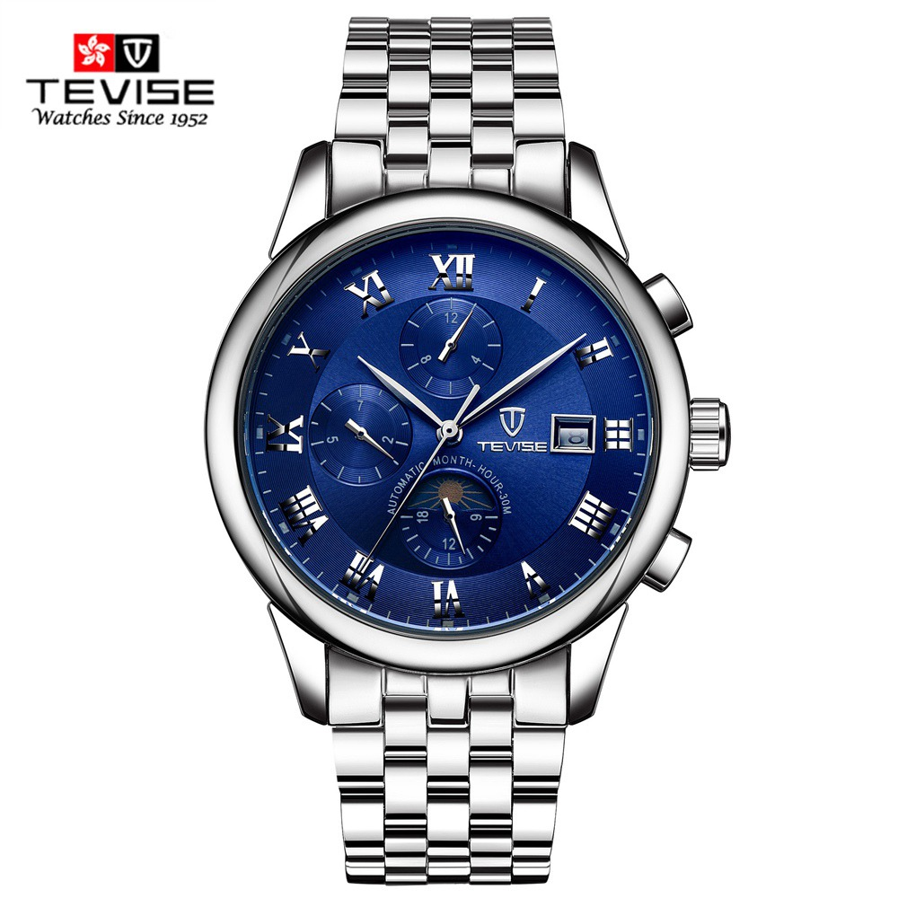 Tevise Luxury Brand Watch Mechanical Watch Men Business Multicolo Stainless Steel Band Wristwatches Automatic Watches Men Clock<br>