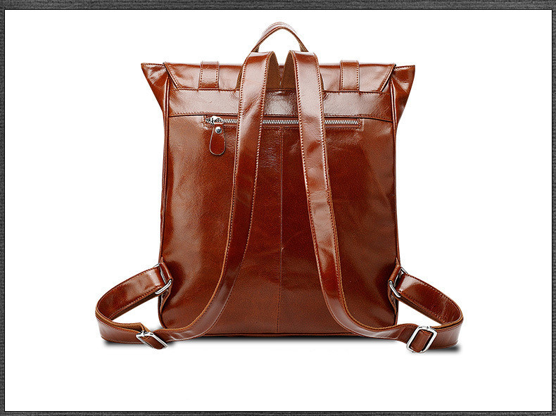 oil wax cow leather men backpack (12)