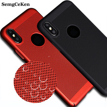 SemgCeKen Luxury Case For Apple iPhone X iPhoneX Original Black Ultra Thin Hard Mobile Phone Back Cover Coque For i Phone X(China)