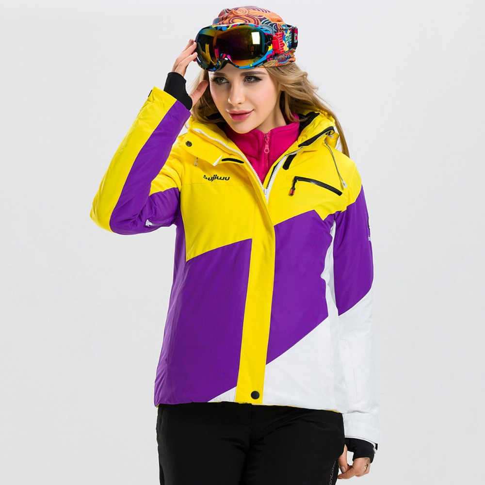 Winter Ski Suit For Girls Anti-Static Thickened Womens Snowboard Clothing Jacket Waterproof Keep Warm Female Ski Suit<br><br>Aliexpress