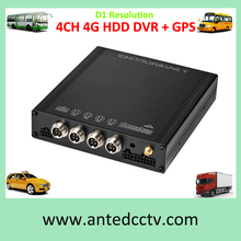 HDD 2CH/ 4 Channel 4G 3G Mobile DVR with GPS H.264 Bus DVR,Truck DVR CCTV