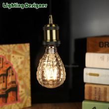 4W 220V E27 LED filament light bulb bomb glass shape clear for commercial lighting pendant lamp droplight