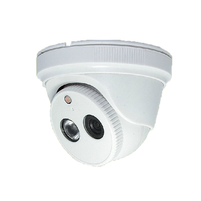 AHD HD 720P 1.0MP Video Camera White Plastic Dome Camera CCTV security Indoor IR Night Vision<br>