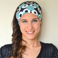 High Quality Print Fabric Turban Headband For Women Girl Boutique Wide Sports Elastic Hair Band Headwrap