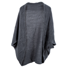 SAF-Women's Batwing Top Knit Cape Cardigan three quarter sleeve Knitwear