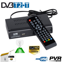 1080P DVB-T2 DVB-T HD Digital Terrestrial Broadcasting Convertor TV Tuner Receiver Set Top Box Support PVR Recorder EGP Playback