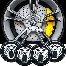 4pcs/lot Car Motorcycle 56mm 3D Tiger head Steering Wheel Center Hub Cap Emblem Badge Stickers Jaguar Hubcap Audi BMW Nissan
