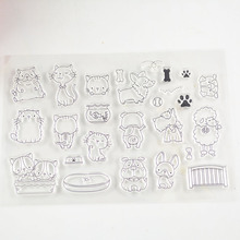 Coolhoo cat style clear stamp Eco-friendly Transparent Stamp For DIY Scrapbooking/Card Making/ Decoration Supplies