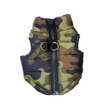 Pet Dog Puppy Cotton-padded Vest Clothing Sleeveless Coat Jacket Puppy Casual Wear Clothing