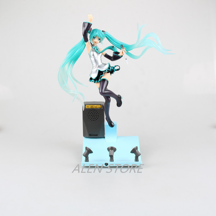 ALEN Hatsune Miku Stage Miku Light &amp; Music 1/7 Scale Boxed PVC Action Figure Collection Model Doll Toy Gift<br>