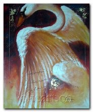 High quality Beautiful Swan decoration new Modern hand painted On Canvas 20x24 inch chicken duck goose oil painting 0011