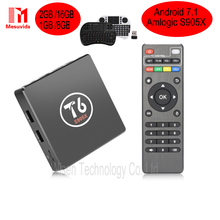Original T6 TV Box Android 7.1 Smart TV Box 2GB 16GB Amlogic S905X Quad core Cortex A53 4K 2.4GHz WiFi Smart Set Top Box PK X92