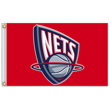 New Jersey Nets NBA team flag United States flag 3x5 FT 150X90CM Banner 100D Polyester(China)