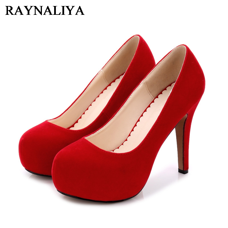 Spring Women Platform Shoes Extreme Beautiful High Heels Fashion Sexy Black Red Wedding Shoes Female Pumps Big Size WZ-A0006<br>