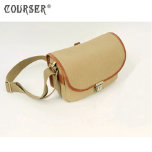 COURSERR Portable Canvas Handbags Shoulder Bag Case Waterproof Camera Shoulder Messenger Bag+Paitition Padded For Outdoor Travel(China)