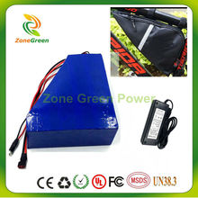 Great 48V 12AH Triangle shape PVC Battery+BAG  electric bike battery NO Taxes li-ion lithium electric scooter +BMS+Charger