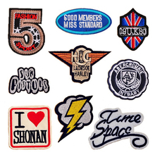 fashion men's dress classic digits embroidery patches for clothes high quality badges iron on patch logo can be customized