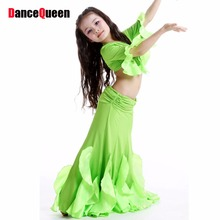Hot Sale Kids Belly Dance Costume Set 2 Pcs Top&Skirt Child Bollywood Dance Costumes Girls Danca Do Ventre Indian Dresses DQ2030