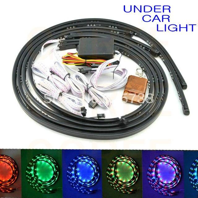 36 48 Undercar Underglow Kit Neon Strip Light Under Car Body Glow Light Tube 7 colors for cruze nissan<br><br>Aliexpress