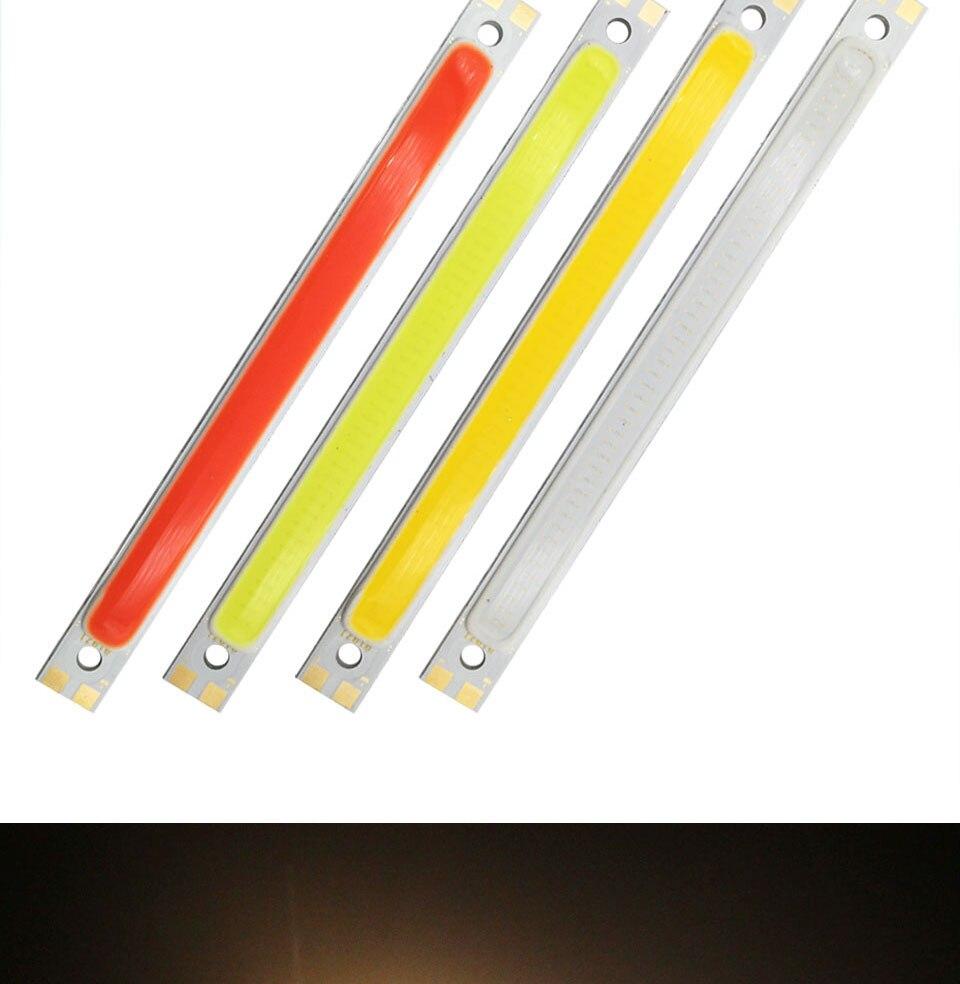 120mm 12v 10w 1000LM cob led light strip chip bulb lamp red blue white (8)