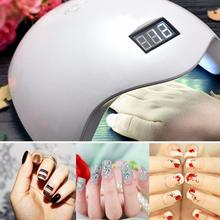 EU/US Plug UV Led Nail Lamp 48W with LCD Timer and Bottom Makeup Nail Dryer Polish Machine for Curing Nail Art Tools