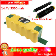 3500mAh High Quality New Battery Pack for iRobot Roomba 500 510,530,535,540,550,560,570,580 Battery Robotics+1sets Bristle Brush
