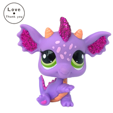 LPS Figure Toy #2660 SPARKLE purple GREEN DRAGON Nice Gift Kids