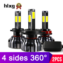 Hlxg 4 양 옆 12000LM H8 H11 Fog 등 No Error h7 led canbus H4 LED Lamps HB3 9005 HB4 90 와트 Auto 빛 bulbs 대 한 cars 12 볼트 6000 천개(China)