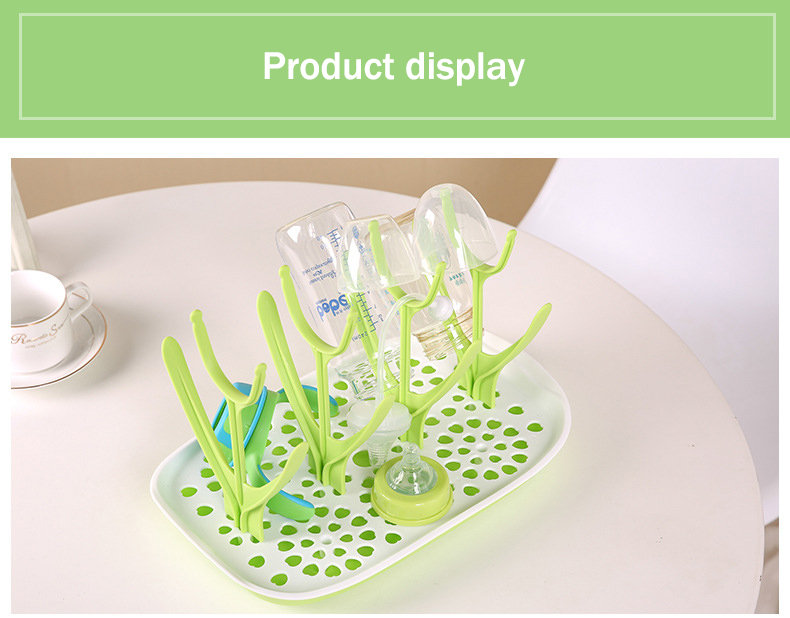 Baby Feeding Bottles Drying Rack Tree Cleaning Drying Rack Storage Infant Nipple Shelf Cup Holder Dryer Shelf Removable