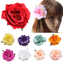 Fashion Girls Flower Brooch/Hair clip Wedding Bridal colorful Clips Hair Accessories 17 Colors