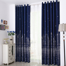 Mediterranean Castle Curtain beauty Finished Custom Bedroom Living Room Insulation Simple Cloth Balcony printed hook grommet