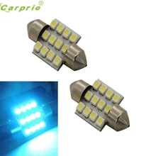 CARPRIE Car Light  2pcs Aqua Blue 31mm 12-SMD DE3175 DE3022 LED Bulbs For Car Interior light White/Amber  #1220