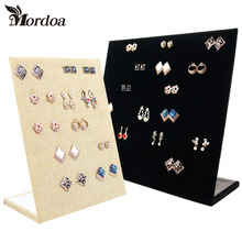 2016 Free Shipping Trumpet Display Shelf Board Pin Ear Ring Jewelry Display Stand Earring Holder Jewelry Box Store Shelf(China)
