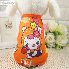 Summer Pet Clothes Dog Shirt Pet Cat Clothing Fashion Cartoon Dog Costumes Puppy Cotton Vest Spring T-Shirts 6 styles Choose