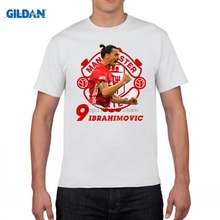 GILDAN funny men t shirt t-shirt Zlantan Ibrahimovic Old Trafford Premier League Sweden Champions for 100% cotton jersey fans(China)
