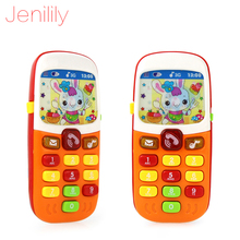 X-Cool Children Electronic Mobile Phone with Sound Smart Phone Toy Cellphone Early Education Toy Infant Toys Random Colors