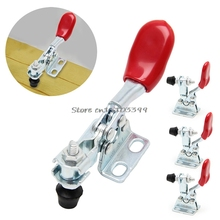 4Pcs Metal Horizontal Quick Release Hand Tool Toggle Clamp For Fixing Workpiece #G205M# Best Quality(China)