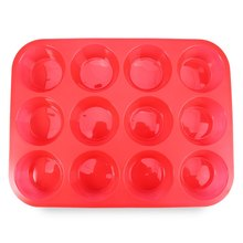 High Quality Silicone Cake Mold Muffin Cup Silicone Bakeware 12 Cup Baking Pan Cupcake Moulds Food Grade Kitchen Accessories