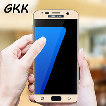 GKK Tempered Glass For Samsung Galaxy S7 A7 A5 A3 Touch Screen Protector Full Cover Protection For Samsung S7 Tempered Glass(China)
