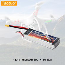 Taotuo Power Lipo Battery 11.1v 4500mah 3S 30C XT60 Plug For RC Helicopter Car Truck Boat Drone Bateria Lithium Polymer(China)