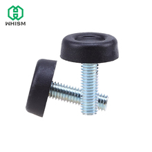 WHISM 4Pcs/Set Furniture Table Chair Sofa Cabinet Adjustable leveling Leg Feet Glide Slide Leveler Base Screw-in M8 Bolt on Pad(China)