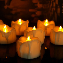 12 PCS Remote Control  Yellow Flickering Tea Candle Romantic Flameless LED Candle Light For Home Festival Wedding Party