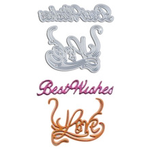 Best Wishes Pattern Metal Die Cutting Dies For DIY Scrapbooking Photo Album Embossing Folder Stencil Die Cut