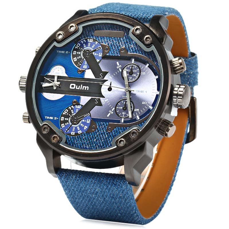 Luxury oulm  Brand Military Watches Men Quartz Analog  Leather Clock Man Sports Watches Army Watch Relogios  Masculino<br><br>Aliexpress