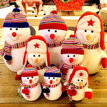new 1 set/lot lovely snowman plush doll Christmas decoration toy Christmas products(China)