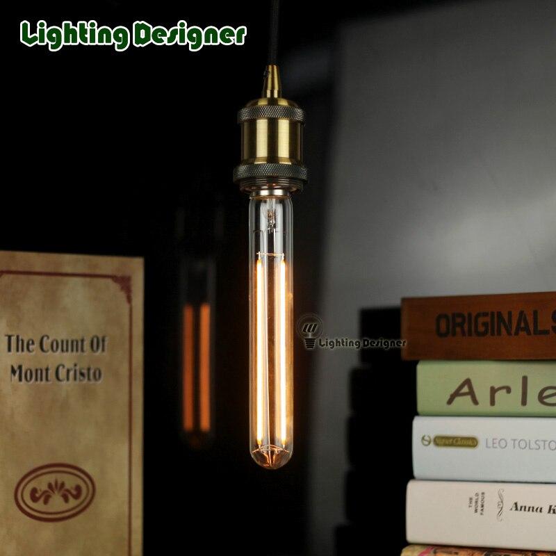 T28/T9 185MM 4w edison bulb tubular bulb double string LED filament design length 4W diammable pandent lamp drop light<br><br>Aliexpress
