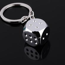 1Pcs Super Deal New Creative Key Chain Metal Genuine Personality Dice Alloy Keychain For Car Key Ring Trinket Wholesale(China)