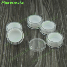 50pcs/lot 5ml Plastic Container with Lids High Quality bho Silicone Container Wax Oil Clear and White Plastic jars OEM custom(China)