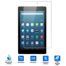 9H Tempered Glass Screen Protector Film for Amazon Kindle Fire HD 8 2015 Generation + Alcohol Cloth + Dust Absorber
